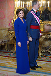 King Felipe VI of Spain and Queen Letizia of Spain attend the New Year Military parade 2020 celebration at the Royal Palace. January 6,2020. (ALTERPHOTOS/Pool)