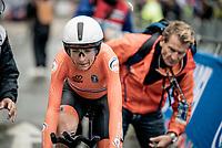 defending champion Annemiek van Vleuten (NED/Mitchelton-Scott) finishes 3rd in the Elite Women Individual Time Trial<br /> <br /> 2019 Road World Championships Yorkshire (GBR)<br /> <br /> ©kramon