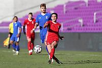 Orlando, Florida - Monday January 15, 2018: Justin Fiddes. Match Day 2 of the 2018 adidas MLS Player Combine was held Orlando City Stadium.