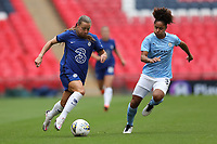 29th August 2020; Wembley Stadium, London, England; Community Shield Womens Final, Chelsea versus Manchester City; Fran Kirby of Chelsea Women takes on Demi Stokes of Manchester City Women
