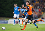 St Johnstone v Dundee United...09.05.15   SPFL<br /> Danny Swanson battles with John Souttar<br /> Picture by Graeme Hart.<br /> Copyright Perthshire Picture Agency<br /> Tel: 01738 623350  Mobile: 07990 594431