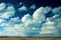 Belhaven Bay, Bass Rock and North Berwick Law from the John Muir Way, Dunbar, East Lothian