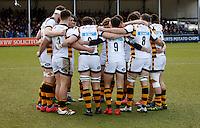 Photo: Richard Lane/Richard Lane Photography. Exeter Chiefs v Wasps. Anglo-Welsh Cup. 28/01/2017. Wasps huddle.