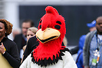 The Zaxby's chicken mascot in action during the Heart of Dallas Bowl Bowl game between the Illinois Fighting Illini and the Louisiana Tech Bulldogs at the Cotton Bowl Stadium in Dallas, Texas. Louisiana defeats Illinois 35 to 18.