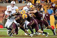 TEMPE, AZ - November 13, 2010: Anthony Wilkerson during a football game at Arizona State University in Tempe, Arizona. Stanford won 17-13.