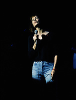 Jane Birkin , in concert at  Montreal's Francofolies(Montreal)<br /> Circa 1993<br /> Photo : (c)by Pierre Roussel / Images Distribution