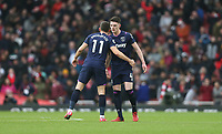 West Ham United's Robert Snodgrass and Declan Rice at the end of the game<br /> <br /> Photographer Rob Newell/CameraSport<br /> <br /> The Premier League - Arsenal v West Ham United - Saturday 7th March 2020 - The Emirates Stadium - London<br /> <br /> World Copyright © 2020 CameraSport. All rights reserved. 43 Linden Ave. Countesthorpe. Leicester. England. LE8 5PG - Tel: +44 (0) 116 277 4147 - admin@camerasport.com - www.camerasport.com
