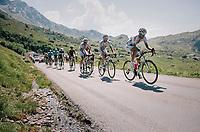 race leaders up the Comet de Roselend<br /> <br /> Stage 11: Albertville > La Rosière / Espace San Bernardo (108km)<br /> <br /> 105th Tour de France 2018<br /> ©kramon