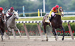 June 9, 2012. #6 Trinniberg, Willie Martinez up, wins the 28th running of the Grade II Woody Stephens at Belmont Park in Elmont, New York.  ©Joan Fairman Kanes/Eclipsesportswire
