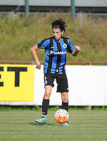 20160827 - AALTER , BELGIUM : Brugge's Febe Vanhaecke pictured during the soccer match  in the 2nd round of the  Belgian cup 2017 , a soccer women game between Club Brugge and Football Club Bercheux   ,  Aalter , saturday 27 th August 2016 . PHOTO SPORTPIX.BE / DIRK VUYLSTEKE