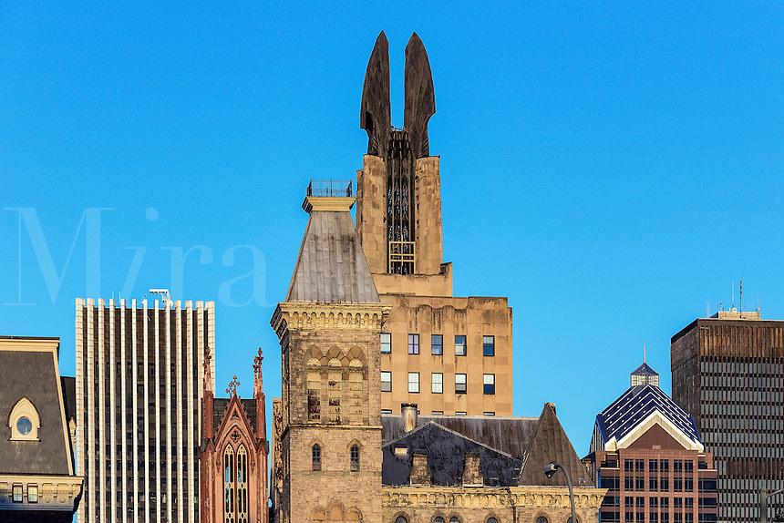 City skyline, Buffalo, New York, USA.