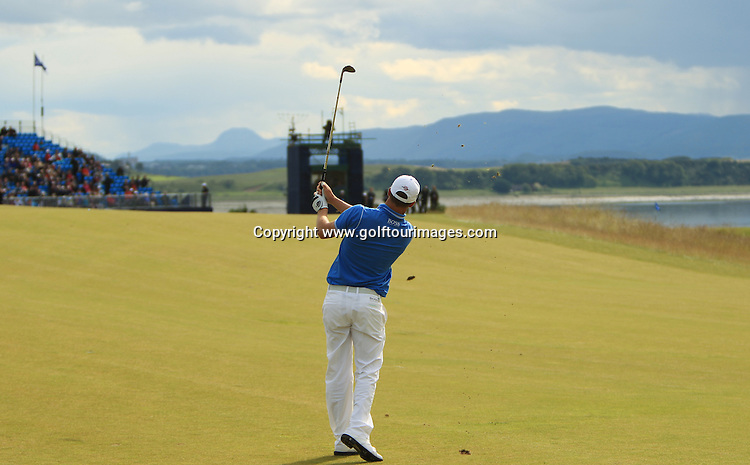 Alexander Noren (SWE) during the third round of the 2012 Aberdeen Asset Management Scottish Open being played over the links at Castle Stuart, Inverness, Scotland from 12th to 15th July 2012:  Stuart Adams www.golftourimages.com:14th July 2012