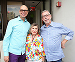 Richard Ridge, Sandy Durell and Sam Rudy attend the Retirement Celebration for Sam Rudy at Rosie's Theater Kids on July 17, 2019 in New York City.