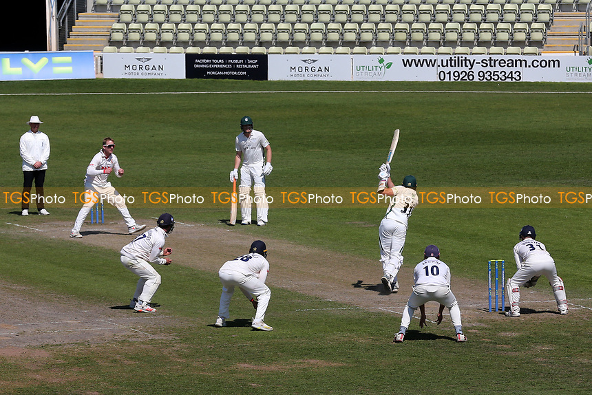 Simon Harmer of Essex bowls to Charlie Morris during Worcestershire CCC vs Essex CCC, LV Insurance County Championship Group 1 Cricket at New Road on 2nd May 2021