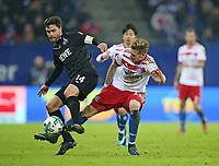 20.01.2018, Football 1. Bundesliga 2017/2018, 19.  match day, Hamburger SV - 1. FC Koeln, Volksparkstadium Hamburg.  Jonas Hecgoal (Koeln)  -  Andre Hahn (Hamburg)  *** Local Caption *** © pixathlon<br /> <br /> +++ NED + SUI out !!! +++<br /> Contact: +49-40-22 63 02 60 , info@pixathlon.de