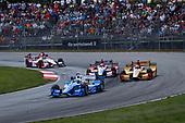 Verizon IndyCar Series<br /> Honda Indy 200 at Mid-Ohio<br /> Mid-Ohio Sports Car Course, Lexington, OH USA<br /> Sunday 30 July 2017<br /> Scott Dixon, Chip Ganassi Racing Teams Honda Ryan Hunter-Reay, Andretti Autosport Honda<br /> World Copyright: Michael L. Levitt<br /> LAT Images