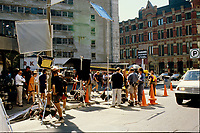 Montreal (QC) CANADA - 1997 File Photo - movie shoot in Old-Montreal