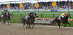 Rachel Alexandra leads Mine that Bird and Musket Man to the finish.