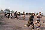 20/07/14  Iraq -- Daquq, Iraq -- Peshmerga fighters train at the base.