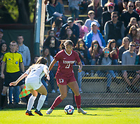 STANFORD, CA - October 21, 2018: Ceci Gee at Laird Q. Cagan Stadium. No. 1 Stanford Cardinal defeated No. 15 Colorado Buffaloes 7-0 on Senior Day.