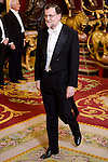 President of Spain, Mariano Rajoy during the gala dinner given to the President of the Argentine Republic, Sr. Mauricio Macri and Sra Juliana Awada at Real Palace in Madrid, Spain. February 19, 2017. (ALTERPHOTOS/BorjaB.Hojas)