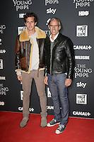 Victor et Paul BELMONDO - Presentation de la nouvelle serie de Canal+ ' THE YOUNG POPE ' realisee par Paolo Sorrentino le 17 octobre 2016 - Cinematheque Francaise - Paris - France