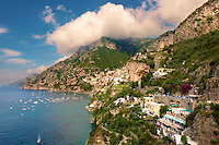 The fashionable  resort of Positano, Amalfi coast, Italy