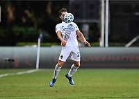 LAKE BUENA VISTA, FL - JULY 18: Perry Kitchen #2 of LA Galaxy receives the ball off his chest during a game between Los Angeles Galaxy and Los Angeles FC at ESPN Wide World of Sports on July 18, 2020 in Lake Buena Vista, Florida.