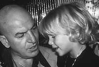 Telly Savalas and son 1981<br /> Photo By Adam Scull/PHOTOlink.net