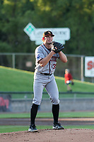 Quad Cities River Bandits starting pitcher Asa Lacy (39) on the mound during a game against the Wisconsin Timber Rattlers on July 8, 2021 at Neuroscience Group Field at Fox Cities Stadium in Grand Chute, Wisconsin.  (Brad Krause/Four Seam Images)