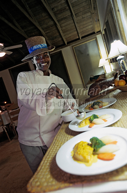 Iles Bahamas /Ile d'Andros/South Andros: Eco-Lodge-Tiamo-Resort la Chef Cuisinière Anna Salmon  // Bahamas Islands / Andros Island / South Andros: Ecolodge-Tiamo-Resort Chef Anna Salmon