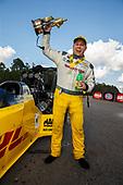 Richie Crampton, DHL, top fuel, victory, celebration, trophy
