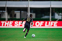 LAKE BUENA VISTA, FL - JULY 20: Jamiro Monteiro #10 of the Philadelphia Union dribbles the ball during a game between Orlando City SC and Philadelphia Union at Wide World of Sports on July 20, 2020 in Lake Buena Vista, Florida.