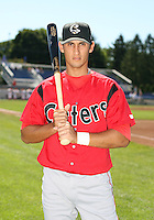 2007:  Jaime Morales of the Williamsport Crosscutters, Class-A affiliate of the Philadelphia Phillies, during the New York-Penn League baseball season.  Photo By Mike Janes/Four Seam Images