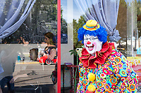 Scooter Slurpo Clowning Around, Auburn Days Parade, Auburn, WA, USA.