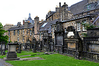Edinburgh, Greyfriars cemetery, graves on the walls of buildings<br /> Scotland May 8th - 19th. Trip across Scotland<br /> Foto Samantha Zucchi Insidefoto