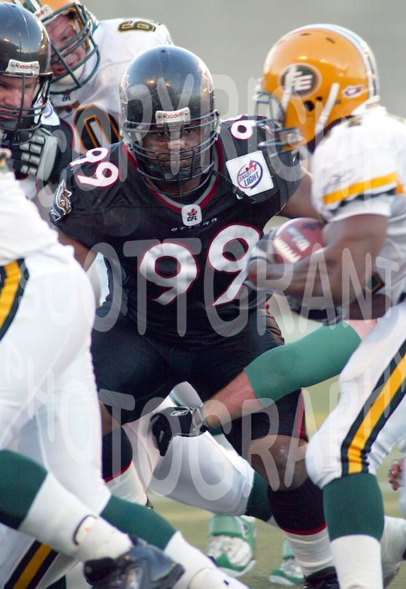 Jerome Haywood Ottawa Renegades 2004. Photo Scott Grant