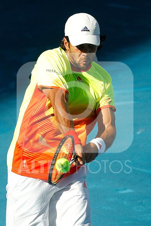 Fernando Verdasco during Mutua Madrid Open 2012 match on may 10th 2012...Photo: Cesar Cebolla / ALFAQUI