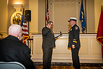 WATERBURY, CT. 20 December 2019-122019BS245 - Waterbury Mayor Neil O'Leary, left, swears in Terry Ballou, as the new Waterbury Fire Chief, during the swearing in ceremonies at City Hall on Friday. Terry Ballou replaces former Fire Chief David Martin, who retired earlier this year. Bill Shettle Republican-American