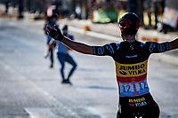 A 3rd victory in this Tour for Belgian National Champion Wout van Aert (BEL/Jumbo-Visma)<br /> <br /> Stage 21 (Final) from Chatou to Paris - Champs-Élysées (108km)<br /> 108th Tour de France 2021 (2.UWT)<br /> <br /> ©kramon