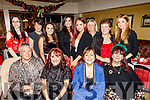 The staff of RoRa in Monavalley enjoying their Christmas party on Saturday in the Brogue Inn.<br /> Seated l to r: Louise O'Shea, Noreen Wren, Kerry O'Connor and Chris McMab.<br /> Back l to r: Lisa Murphy, Siobhan and Kelly Field, Sarah O'Connor, Aisling Spillane, Ann Jones, Judy Neenan and Agnes Kubik.