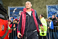 Fabinho of Liverpool (3) arriving before the Premier League match between Brighton and Hove Albion and Liverpool at the American Express Community Stadium, Brighton and Hove, England on 12 January 2019. Photo by Edward Thomas / PRiME Media Images.
