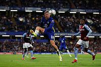 22nd September 2021; Stamford Bridge, Chelsea, London, England; EFL Cup football, Chelsea versus Aston Villa; Ross Barkley of Chelsea controls the ball
