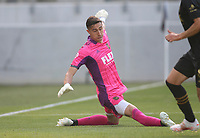 LOS ANGELES, CA - APRIL 17: Pablo Sisniega #23 of LAFC with a save during a game between Austin FC and Los Angeles FC at Banc of California Stadium on April 17, 2021 in Los Angeles, California.