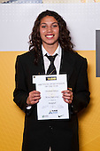 Girls Basketball winner Chevannah Palvasst from Massey High School. ASB College Sport Auckland Secondary School Young Sports Person of the Year Awards held at Eden Park on Thursday 12th of September 2009.