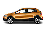 Car Driver side profile view of a 2015 Volkswagen Polo Cross 5 Door Hatchback 2WD Side View