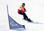 Curt Minard, PyeongChang 2018 - Para Snowboard // Parasnowboard.<br /> Highlights of Team Canada during a snowboard cross training session // Faits saillants d'Équipe Canada lors d'une session d'entraînement de snowboard cross. 10/03/2018.