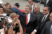 Ottawa (ON) CANADA, July 1st, 2007 -<br /> <br /> Stephen Harper, Prime Minister of canada shake hand in the crowd<br />  during<br /> Canada day celebration in the national capital.<br /> photo : (c)  Michel Karpoff - Images Distribution