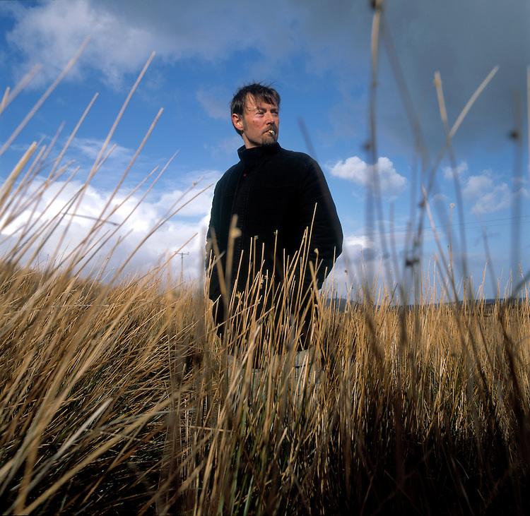 Booker prize winner DBC Pierre, photographed on Iron Mountain ( Sliabh An Iarainn) in County leitrim Ireland.
