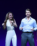 Samantha Barks and Andy Karl during the Curtain Call for the Garry Marshall Tribute Performance of 'Pretty Woman:The Musical' at the Nederlander Theatre on August 2, 2018 in New York City.